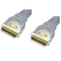 SLx Gold Flat Scart to Scart 1.5M Cable