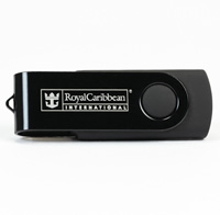 Engraved 4GB USB Twister - Black/Black