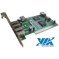 6 Port Combo USB 2.0 + Firewire PCI Card