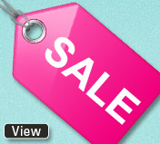 pink sale tag small banner